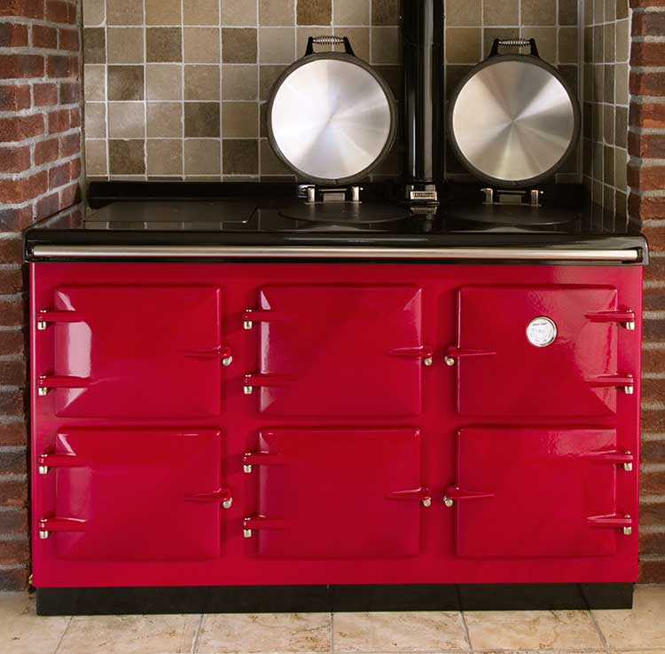 Heritage Electric Grande in Aubergine - quality electric range cookers, made in Cornwall