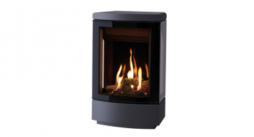 The contemprary Gazco Loft, a premium stove with high output