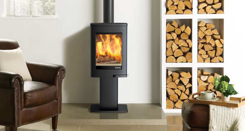 The Nordpeis Uno 1 - an efficient wood burning stove.