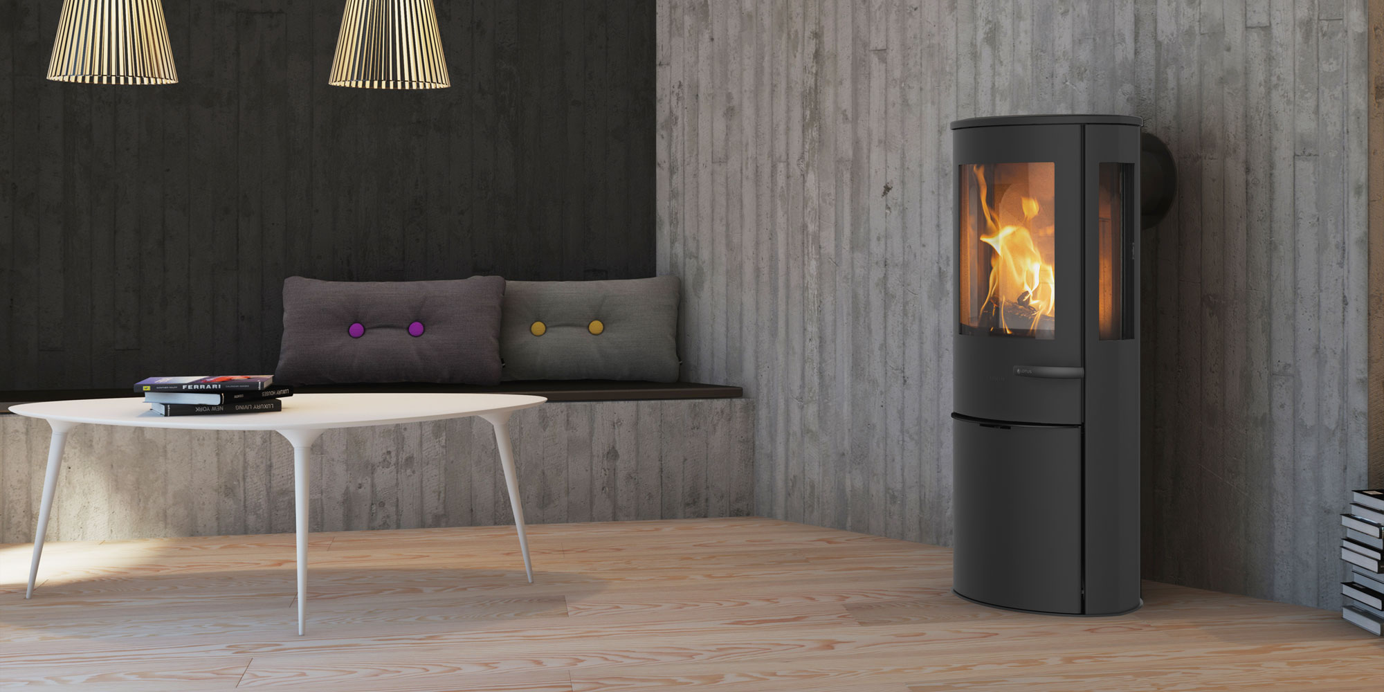 Lotus stoves from Denmark, available now in Cornwall
