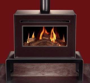 The modern gas Woodwarm Kalido free standing stove