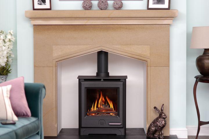 The Woodwarm Phoenix gas stove.